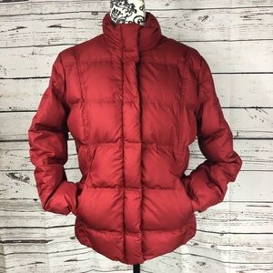 Eddie Bauer Goose Down Filled Puffer Jacket Red M